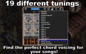 19 different tunings. Find the perfect chord voicing for your songs!