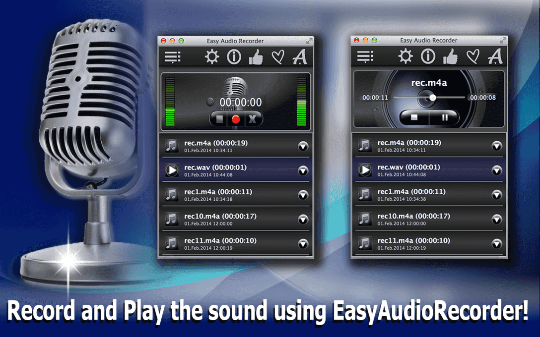 Record and Play the sound using EasyAudioRecorder!