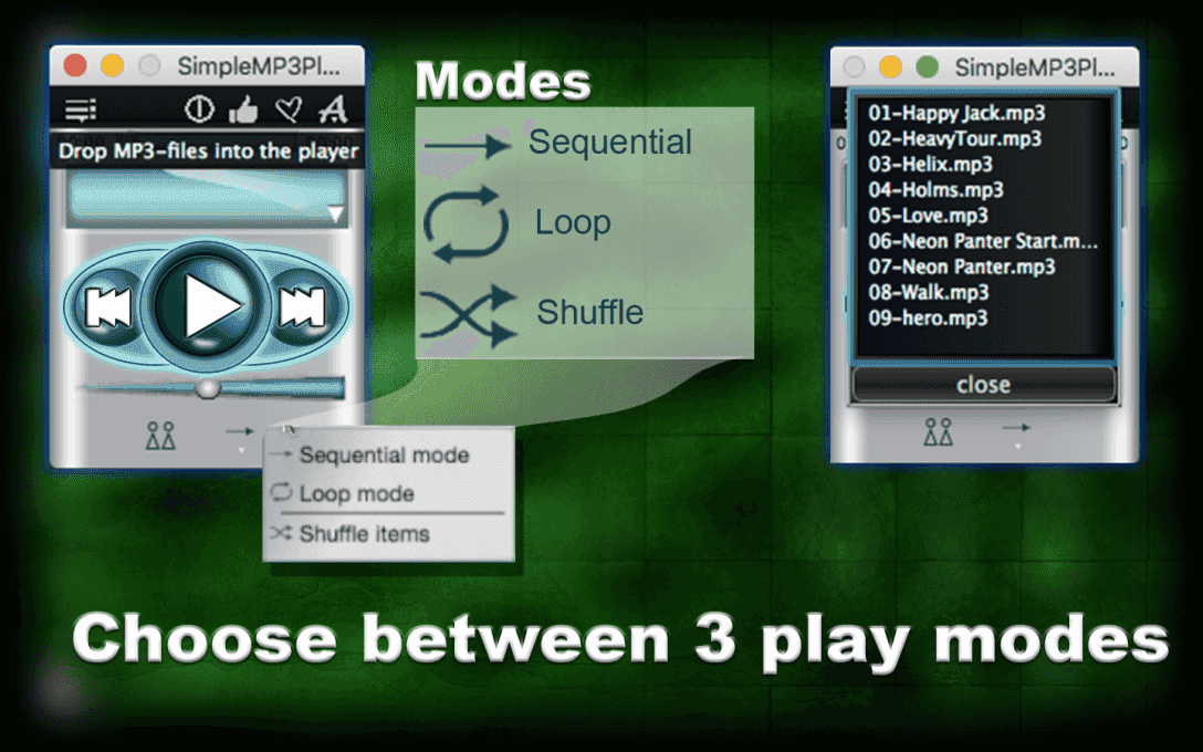 Choоse between 3 play modes