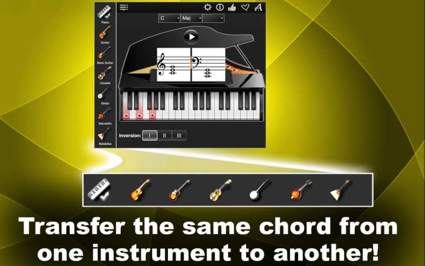Neonway releases Chords Compass 1.0 - Chords For 7 Instruments Image