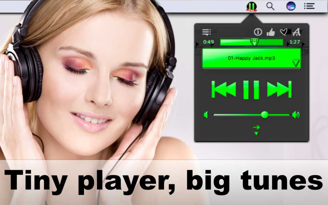 Tray Player Lite released for OS X - Tiny Player, Big Tunes Image