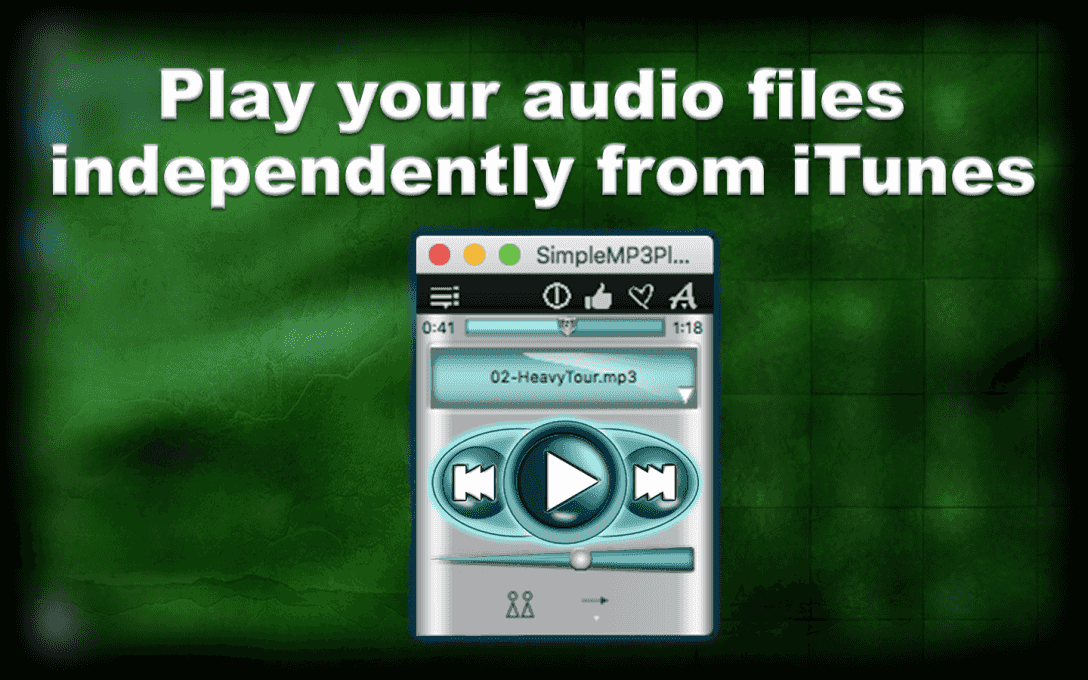 Play your audio files  independently from iTunes