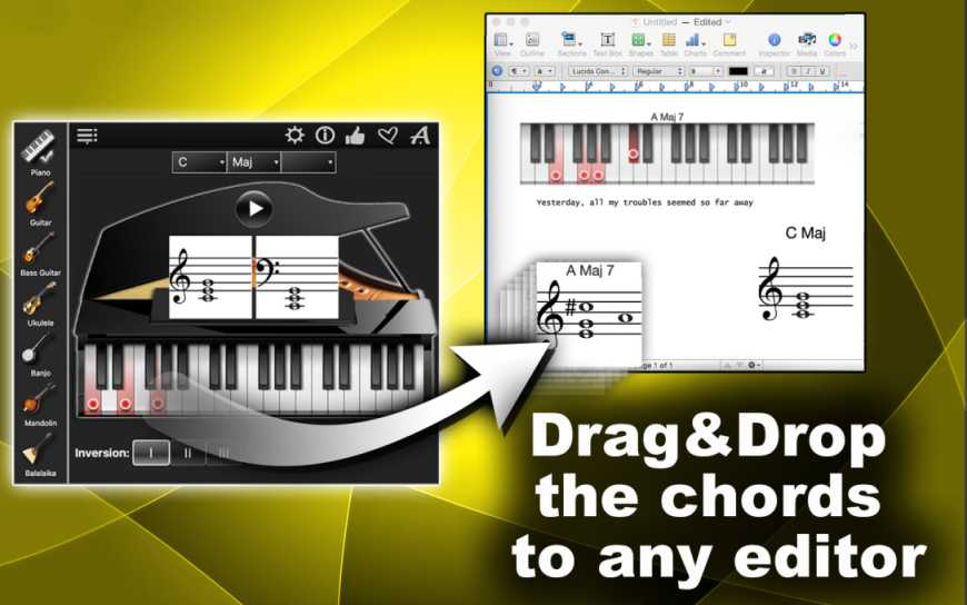 Find The Chords On Piano Guitar Ukulele And More Neonway